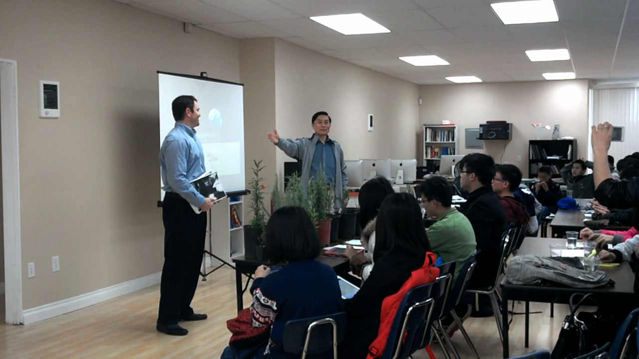 Sharing a global message of flow with Chinese students.