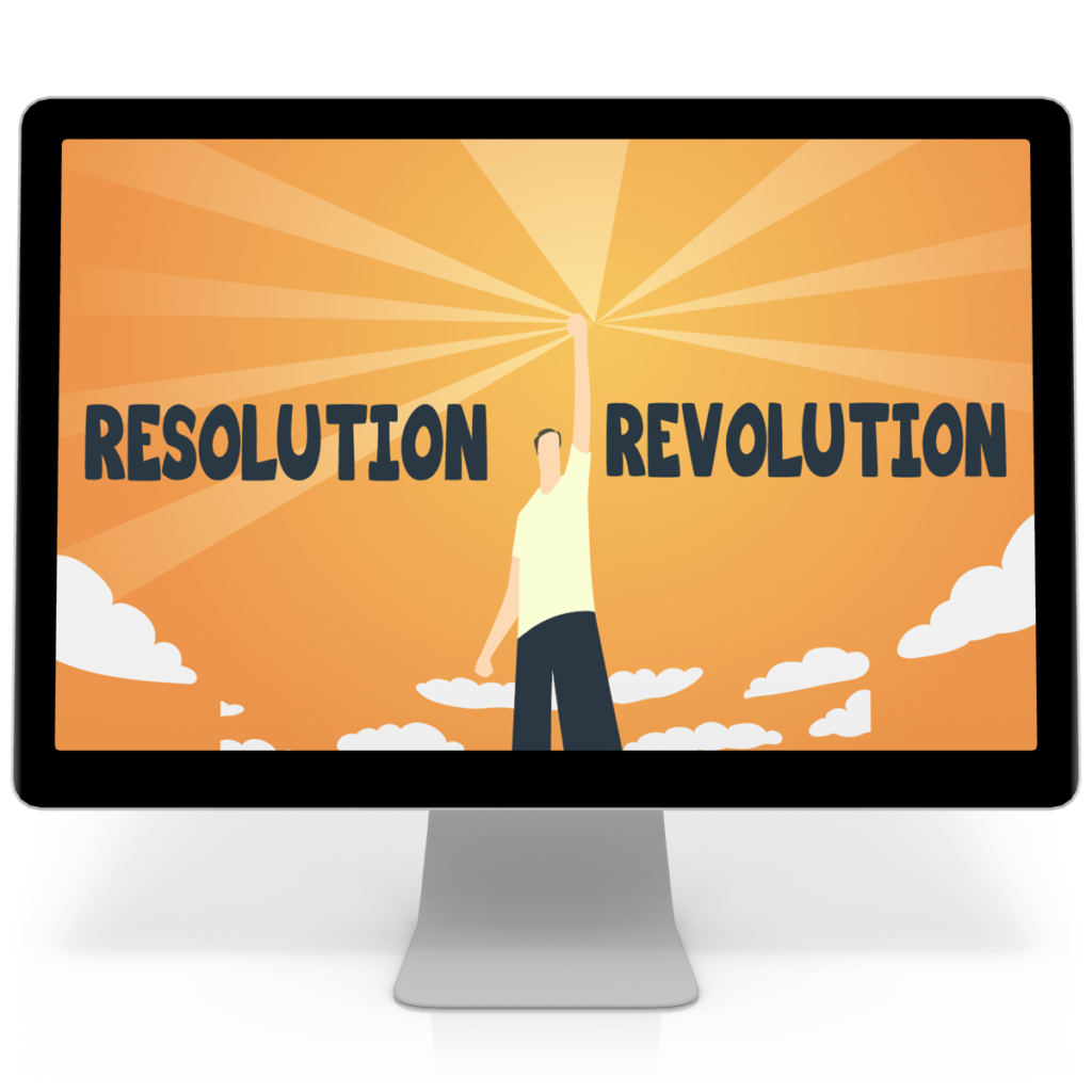New Years Resolution Revolution computer screen