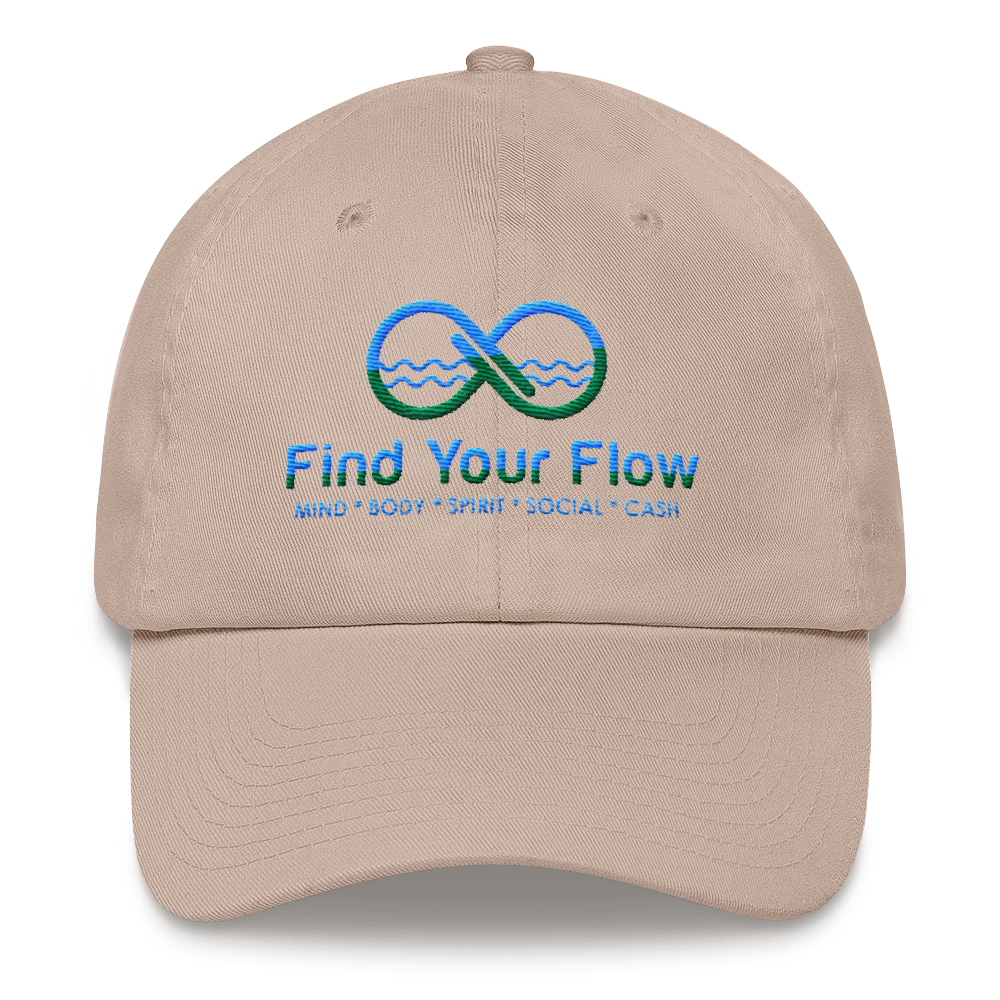 Find your Flow dad cap stone infinity