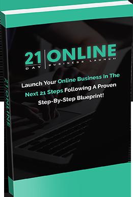 21 Day Online Marketing book graphic.